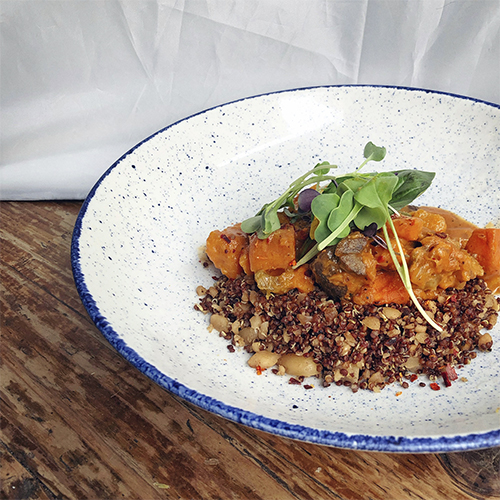 Quinoa al curry de coco y pera