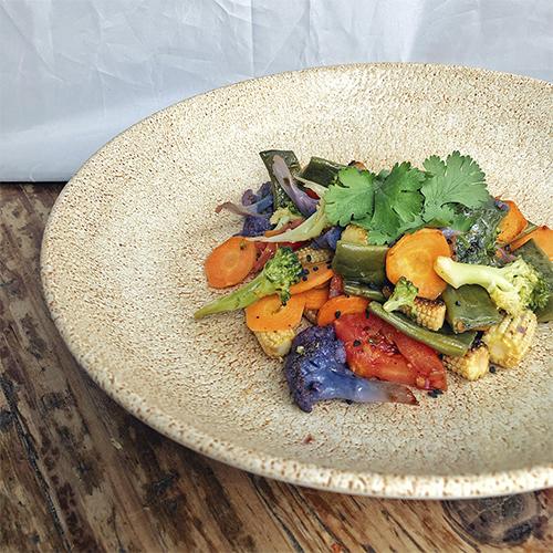 Wok de verduras con tamari y sésamo